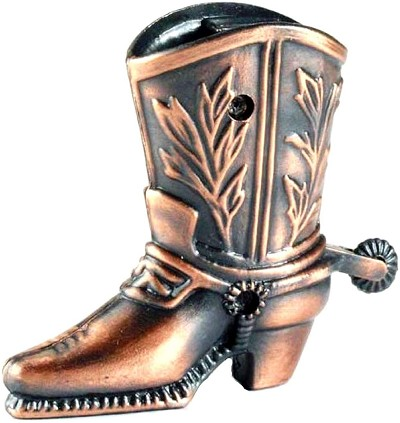 Cowboy Boot Die Cast Metal Collectible Pencil Sharpener