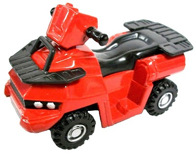 Red ATV Die Cast Metal Collectible Pencil Sharpener