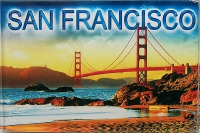 San Francisco Bay View Glass Fridge Magnet