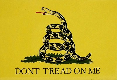 The Gadsden Flag Fridge Magnet