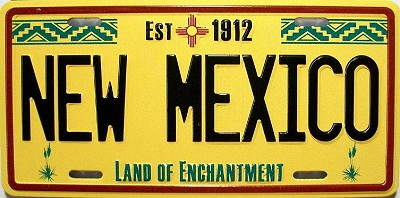New Mexico State License Plate Novelty Fridge Magnet