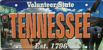 Tennessee The Volunteer State License Plate Souvenir Fridge Magnet