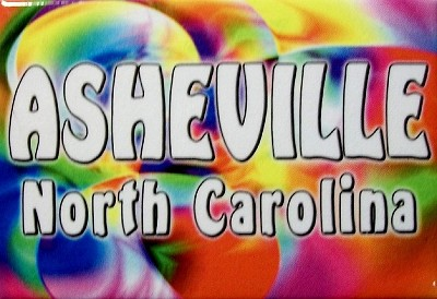 Asheville North Carolina Tye Die Fridge Magnet
