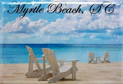 Myrtle Beach South Carolina-Beach Scene Fridge Magnet