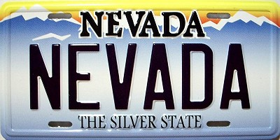 Nevada State License Plate Novelty Fridge Magnet