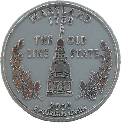 Maryland State Quarter Fridge Magnet