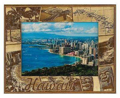 Hawaii Laser Engraved Wood Picture Frame (5 x 7)