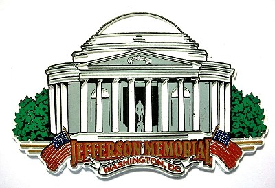 The Jefferson Memorial Washington D.C. Fridge Magnet Design 30
