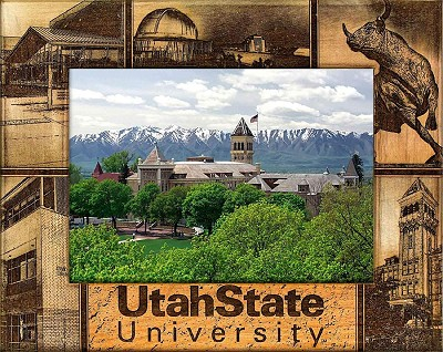 Utah State University Laser Engraved Wood Picture Frame (5 x 7)