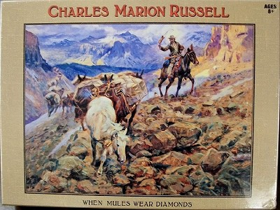 Charles Marion Russell When Mules Wear Diamonds 1st Edition Puzzle