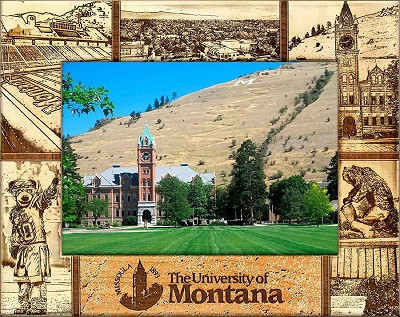 University of Montana Engraved Wood Picture Frame (5 x 7)
