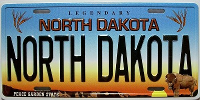 North Dakota State License Plate Novelty Fridge Magnet
