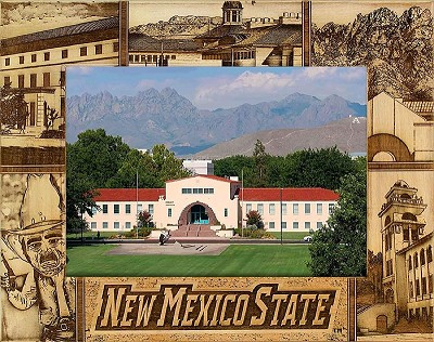New Mexico State University Engraved Wood Picture Frame (5 x 7)