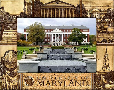 University of Maryland Engraved Wood Picture Frame (5 x 7)