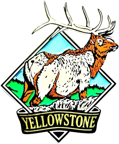Yellowstone National Park with Elk Fridge Magnet
