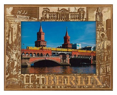 Berlin Laser Engraved Wood Picture Frame (5 x 7)