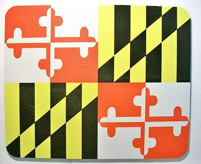 Maryland Flag Mouse Pad Design 25