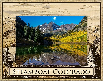 Steamboat Colorado Laser Engraved Wood Picture Frame (5 x 7)