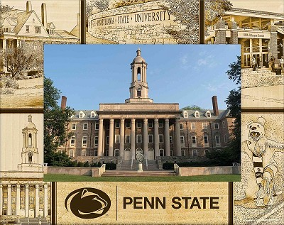 Pennsylvania State University Laser Engraved Wood Picture Frame (5 x 7)