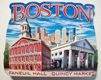 Boston MA Montage Artwood Fridge Magnet Design 27