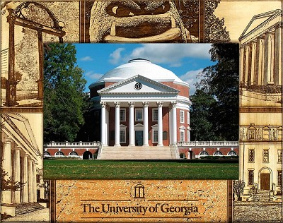 University of Georgia Laser Engraved Wood Picture Frame (5 x 7)