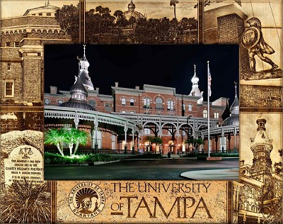The University of Tampa Engraved Wood Picture Frame (5 x 7)
