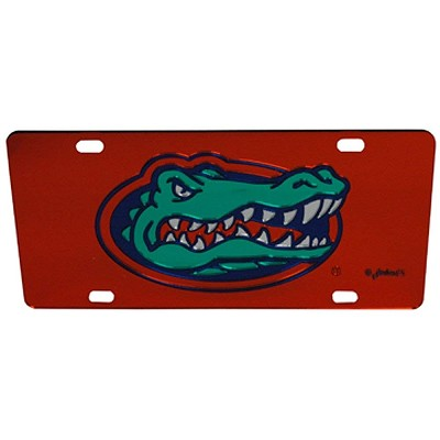 Florida Gators Orange Mirror License Plate-NCAA