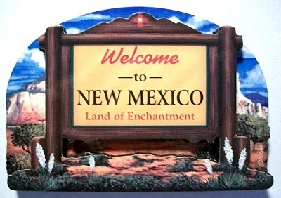 New Mexico State Welcome Sign Artwood Fridge Magnet Design 14