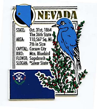 Nevada The Sliver State Montage Fridge Magnet
