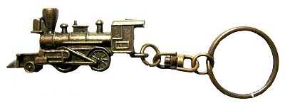 Old Time Steam Locomotive Key Chain