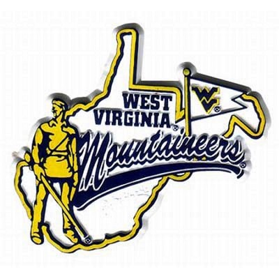 WVU Mascot Map Fridge Magnet-NCAA